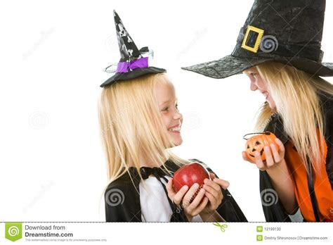 two little witches a two little witches stock photo image 12199130