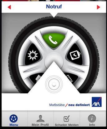 axa unfall melden axa app f 252 r autofahrer mit update 187 appsblog de