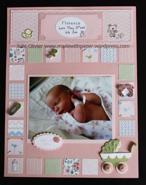 scrapbook quilt layout artisan award non winning entry day 4 baby scrapbook page