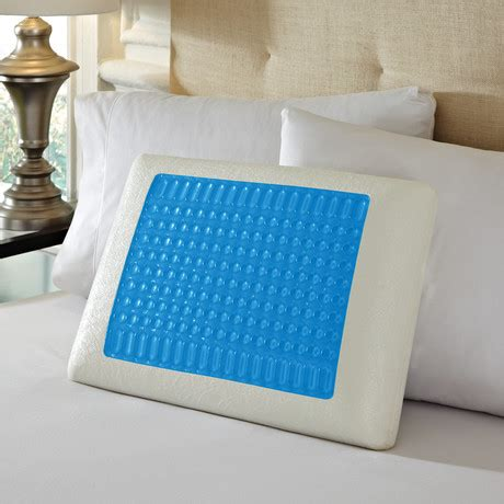 pure comfort gel memory foam pillow pure rest by rio home fashions cooling bed products