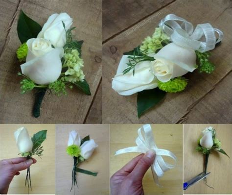 Handmade Corsage - how to make a corsage do it yourself ideas