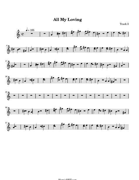 my score all my loving sheet all my loving score hamienet