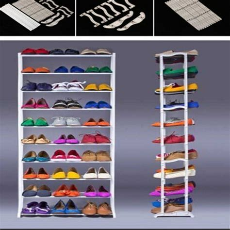 white space saving shoe storage cabinet 20 27day delivery 2016 new standing 10 tier shoe shelf
