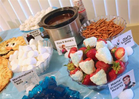 frozen themed birthday food disney frozen party food menu