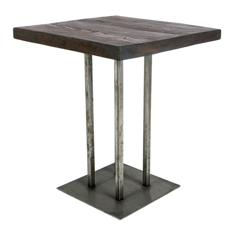 Square Bar Table Rustic Cafe Table Rentals Event Furniture Rental