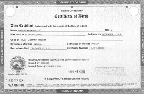 birth certificate word template 5 birth certificate templates excel pdf formats