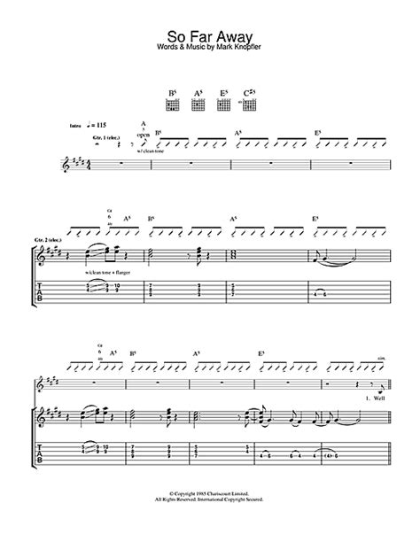 tutorial drum so far away so far away guitar tab by dire straits guitar tab 33780