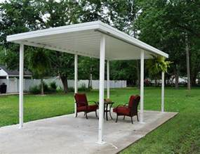 Patio Lean To Shelter Freestanding Carport And Patio Cover Kit Americana