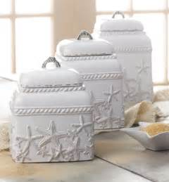 Beach Themed Kitchen Canisters starfish canister set