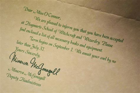 Make Harry Potter Acceptance Letter Letters From Santa Hogwarts Acceptance Letters Giveaway Winners Cupcake Diaries