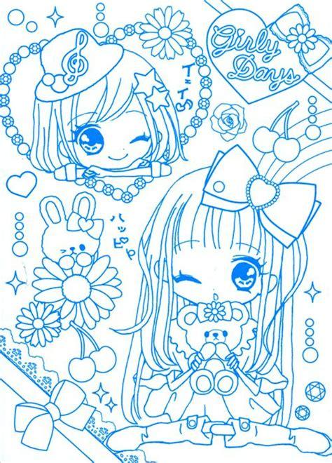 kawaii japanese coloring pages s 252 223 e kawaii anime m 228 dchen notizbuch malbuch q lia japan