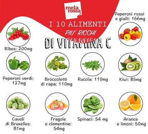 quali alimenti contengono la vitamina e vitamina c scopri perch 233 232 cos 236 importante melarossa