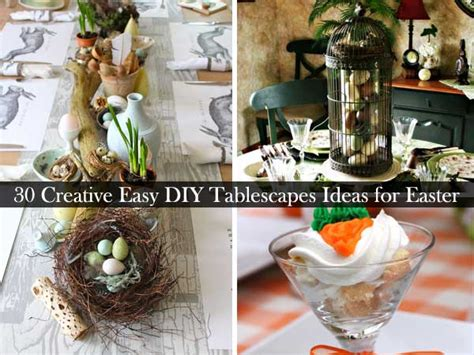 Dining Room Decorating Ideas On A Budget 30 Creative Easy Diy Tablescapes Ideas For Easter