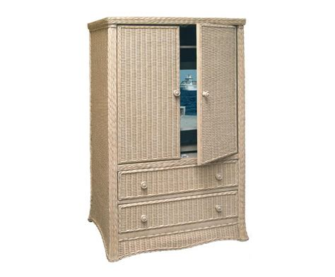 Rattan Armoire by Fl Pd Tv A Florentine Wicker Tv Armoire