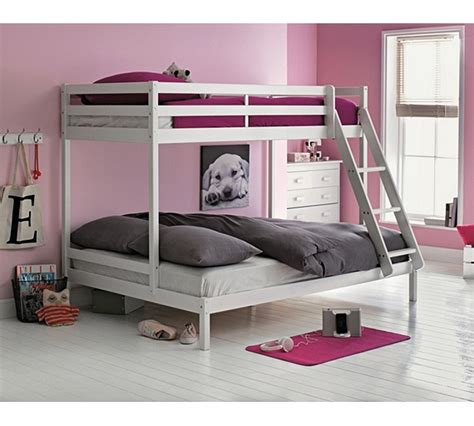 argos futon bunk bed buy home single and double bunk bed frame white at argos