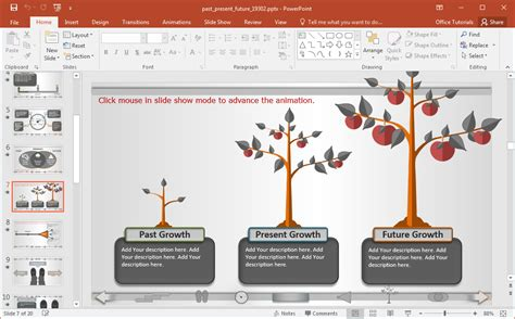 Interactive Past Present Future Powerpoint Template Interactive Powerpoint Template
