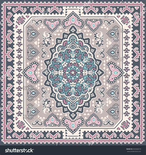 seamless rug pattern vintage vector turkish rug style seamless stock vector