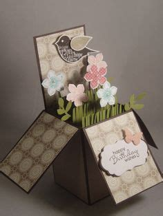 Diy Papercraft Pop Up Card Bunga Pansy 1000 images about paper crafts box cards on in a box cards and boxes
