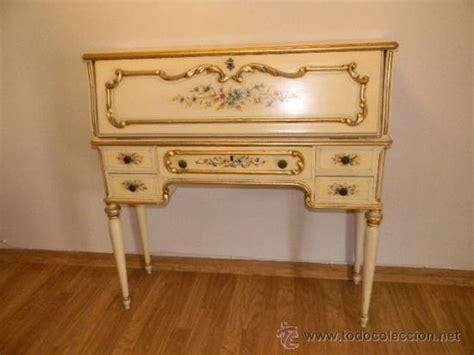 venta escritorio antiguo precioso secreter escritorio antiguo pintado a comprar