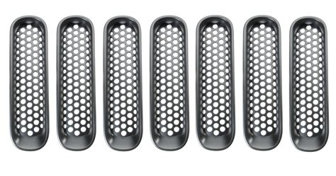 rugged ridge mesh grille insert rugged ridge 11306 31 mesh grille inserts for 07 18 jeep wrangler jk quadratec