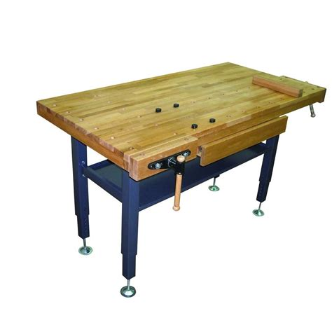 oak work bench general international 60 in x 30 in oak work bench