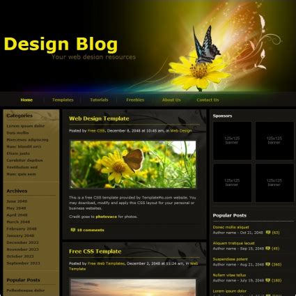 html templates for blogger free download design blog free website templates in css html js format