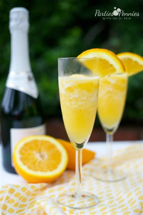 how to make frozen mimosas parties for pennies