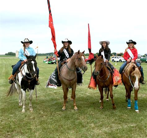 Rodeo Royalty rodeo royalty participates in enderlin all school reunion