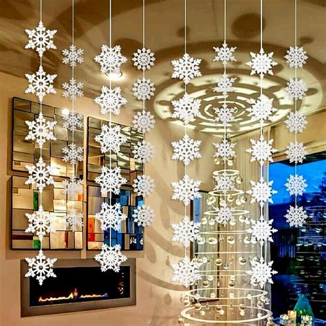 Hanging Decorations For Home | aliexpress com buy wholesale 50packs silver snowflake