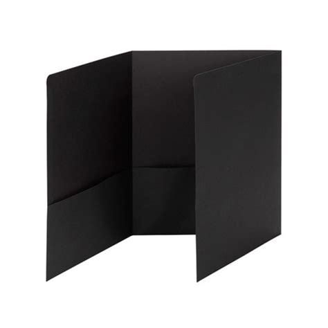 Tri Fold Paper Folder - smead 87812 black tri fold pocket folders letter tri