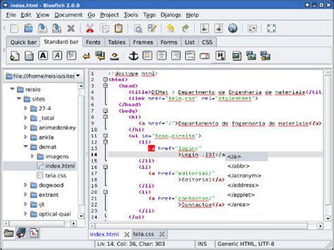 bluefish editor design view 5 top software tools for web design logo design social