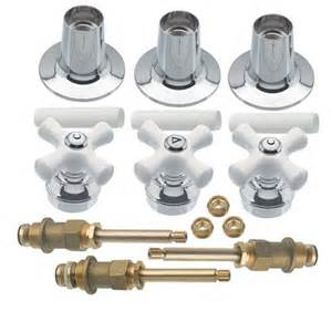 danco tub shower faucet 3 handle rebuild kit chrome trim