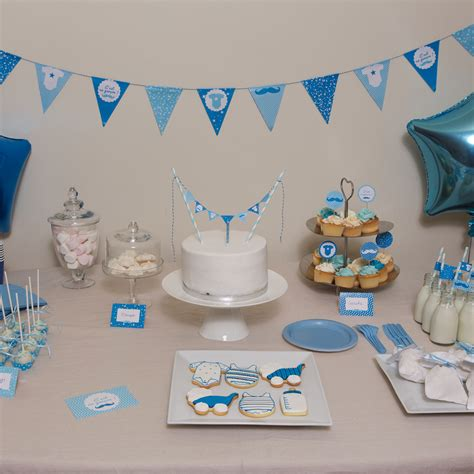 Baby Shower by Kit Baby Shower Garcon Deco Fete De Naissance Achat Vente