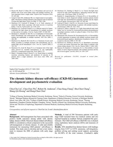 Failure Research Paper by Research Paper Kidney Disease