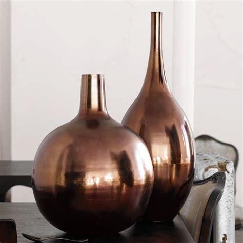 Home Vase by And New Brocade Home Brushed Metal Vase Popsugar Home