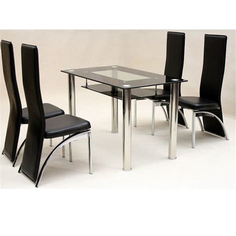 glass top kitchen table and chairs kenangorgun com