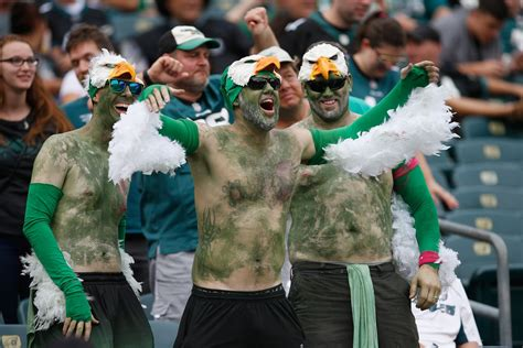 philadelphia eagles fan philadelphia eagles fans are invading los angeles ahead of