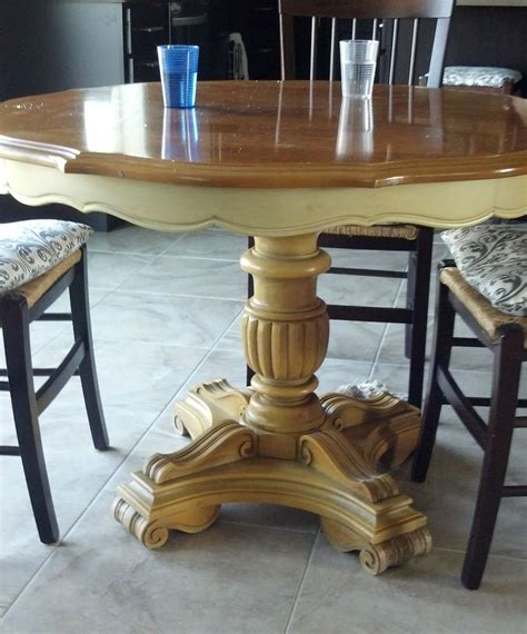 chalk paint kitchen table ideas hometalk refurbished craisglist kitchen table with