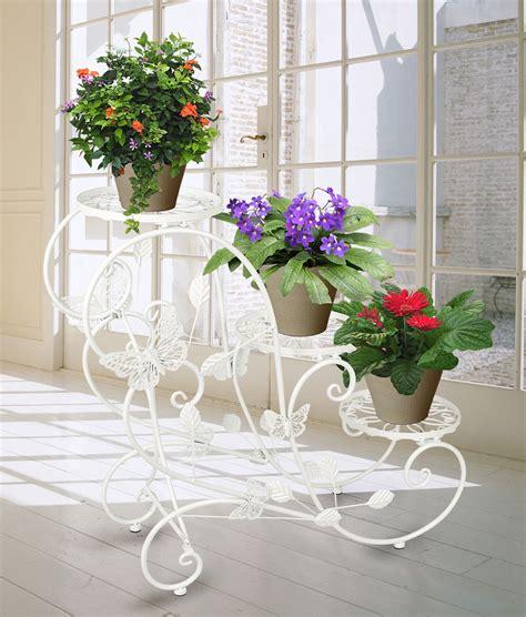 vasi di fiori in giardino portavaso fioriera scaletta con 3 piani per vasi di fiori