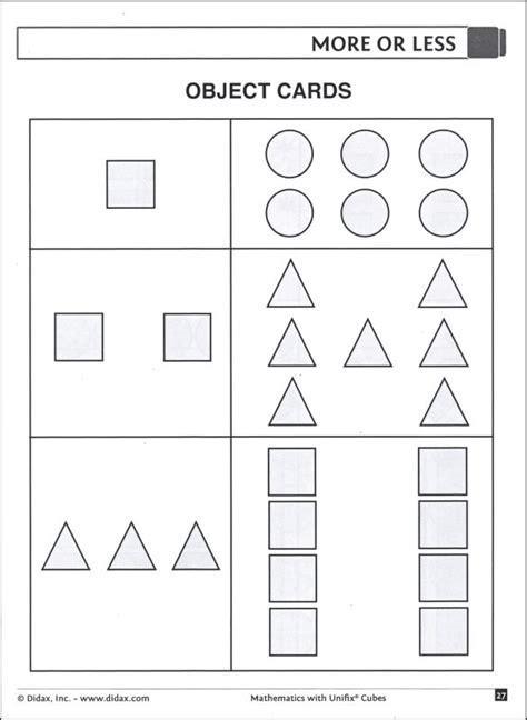 Unifix Cubes Worksheets by Mathematics With Unifix Cubes Kindergarten 047284