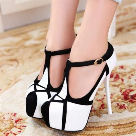 high heels black and white shoes gorgeous black and white high heels platform