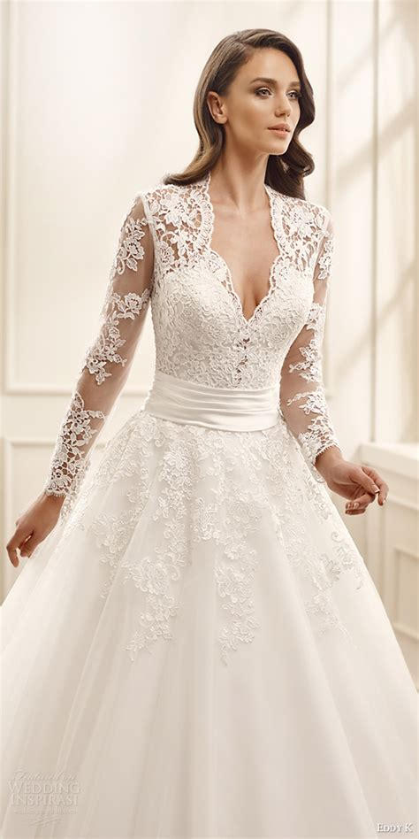 bridal dresses with sleeves eddy k 2016 wedding dresses wedding inspirasi