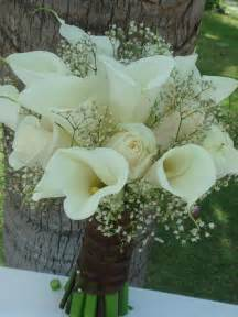 bouquet bridal white calla lilies roses and baby s