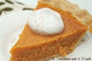 a teaspoon and a pinch sweet potato pie