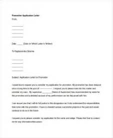 Application Letter Sle Promotion 61 Free Application Letter Templates Free Premium Templates