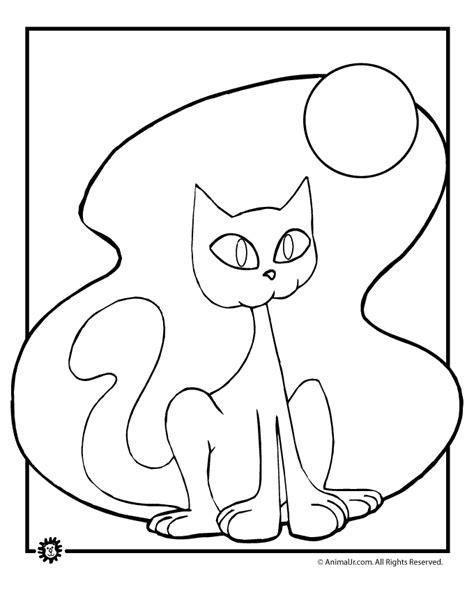 halloween black cat colouring pages page 2 coloring home