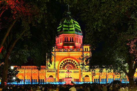 photos melbourne lights up for white night festival