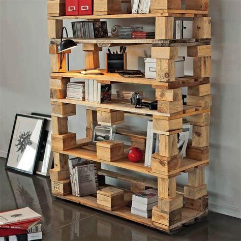diy pallet bookshelf ideas cool pallet furniture designs