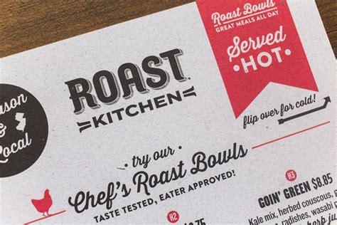 Roast Kitchen Menu by Roast Kitchen Menu Design