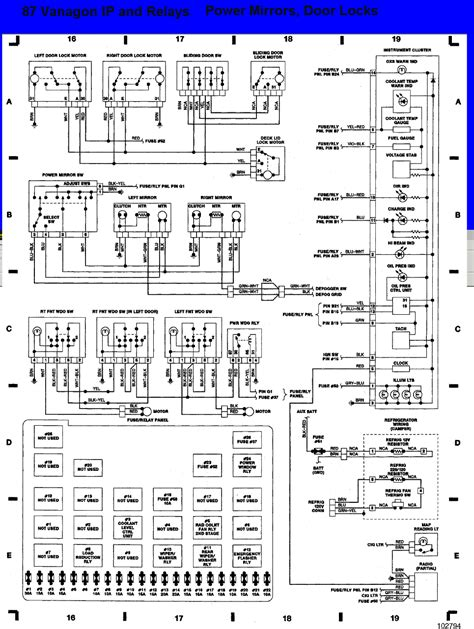 vanagon fuse panel diagram search vanagon tech